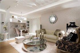 米色新古典客厅装修布置