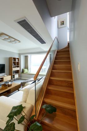 原木质朴简约风格楼梯效果图赏析