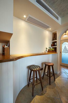 自然田园风格清新小吧台装潢设计
