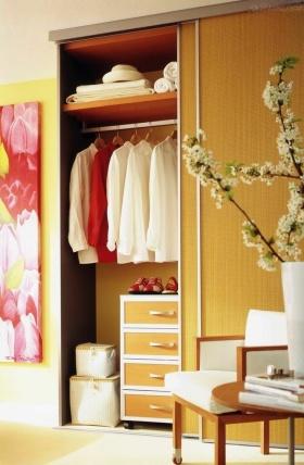 自然清新黄色简约风格衣柜效果图设计