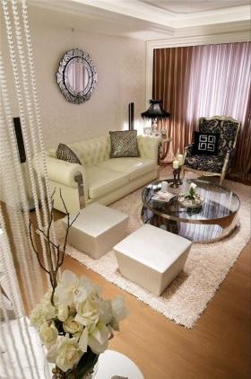 米色精致时尚新古典客厅装潢设计赏析