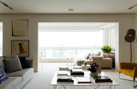 精致自然现代白色阳台设计赏析