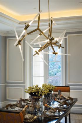 创意个性艺术时尚现代风格餐厅吊顶装修设计