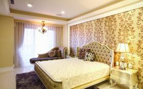 混搭风格黄色卧室装修布置