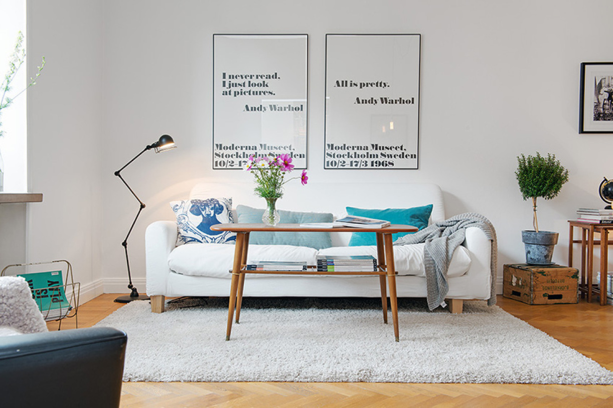 北欧风格白色时尚客厅装修图