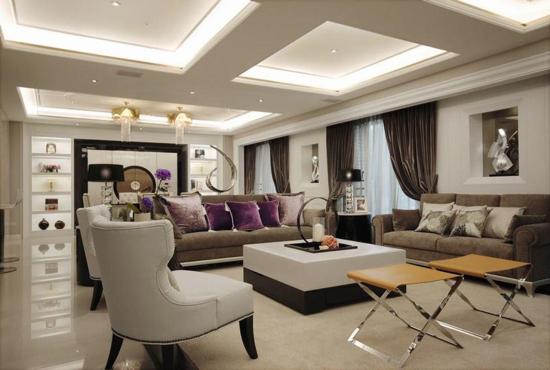现代风格时尚灰色客厅装潢