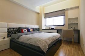 现代风格灰色大空间卧室设计欣赏