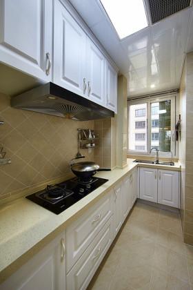 米色素雅田园风格厨房橱柜效果图设计