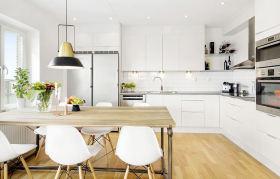 白色时尚简约风格厨房美图