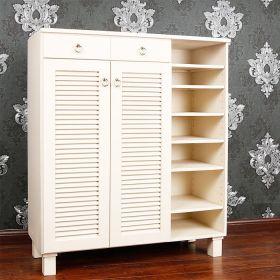 素雅白色现代风格鞋柜装修案例