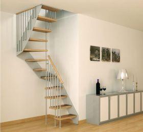 素雅简约灰色风格楼梯效果图