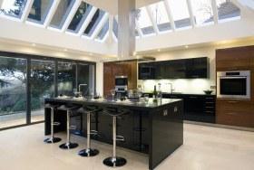 黑色精致大气现代风格吧台装潢装饰设计图片