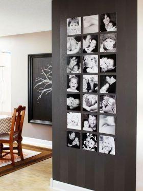 时尚混搭风格照片墙图片欣赏