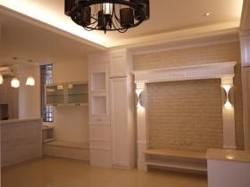 米色简欧风格背景墙装饰案例