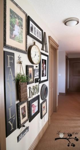 美式温馨雅致风格照片墙装修效果图片