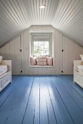 白色优雅混搭风格阁楼装修布置