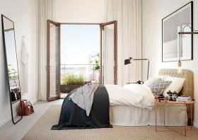 白色时尚宜家风格卧室设计赏析