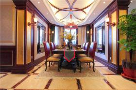 浪漫古典奢华精致欧式餐厅吊顶装潢