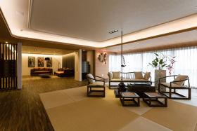 中式古典黄色客厅设计案例
