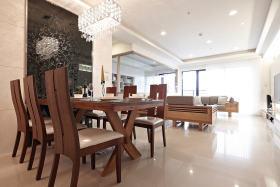 褐色美式风格餐厅装修图片