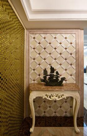 米色欧式风格玄关装饰柜设计图片