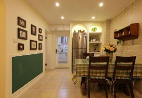 乡村田园客厅照片墙设计图片