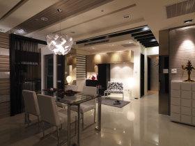 米色简约风格餐厅吊顶装潢设计