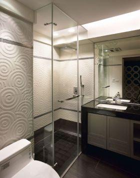 雅致时尚灰色现代风格创意卫生间设计