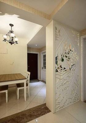 精致混搭风格镂花玄关装饰设计图片