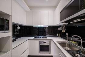 现代风格黑色厨房橱柜设计图