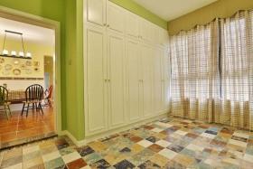 浪漫清新绿色田园风格窗帘装修设计