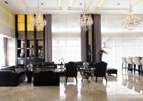 黑色现代风格客厅设计图