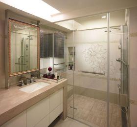 米色休闲简约风格卫生间现代设计