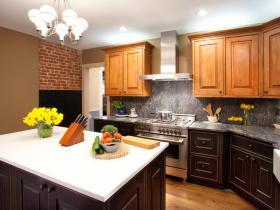 优雅时尚美式风格厨房橱柜装潢设计