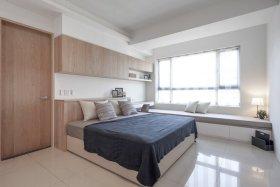 宜家米色卧室效果美图设计