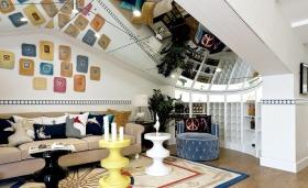 创意混搭多彩客厅图片欣赏