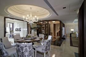 白色新古典客厅吊顶设计图片