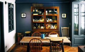 黑色中式复古餐厅设计装潢