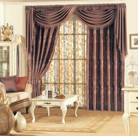 古典华丽欧式风格窗帘装饰案例