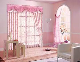 梦幻粉色浪漫混搭窗帘装修图