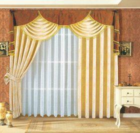 黄色欧式风格窗帘效果图设计