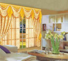 唯美清新混搭风格窗帘设计美图