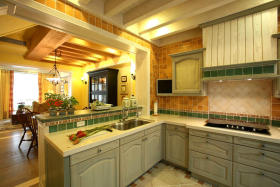 温馨田园风格厨房装修案例
