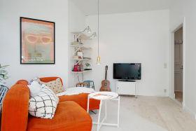 创意白色简约客厅设计案例