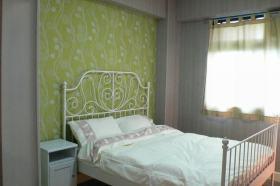 绿色简欧卧室壁纸装饰设计图片