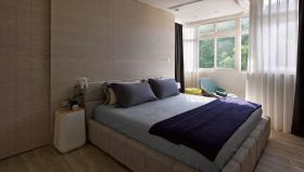米色宜家卧室设计效果图