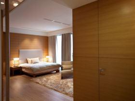 现代风格橙色卧室装修设计