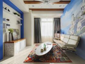 白色浪漫地中海雅致客厅设计装饰案例