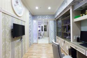 银灰精致时尚新古典风格过道装潢