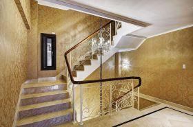 精致奢华黄色欧式风格楼梯效果图欣赏